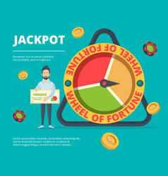 fortune happy people victory lucky person near vector image