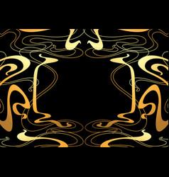 frame with art nouveau ornament vector image