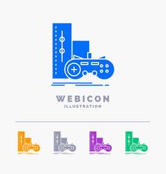 Game gamepad joystick play playstation 5 color vector