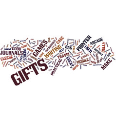 Gifts for him text background word cloud concept vector