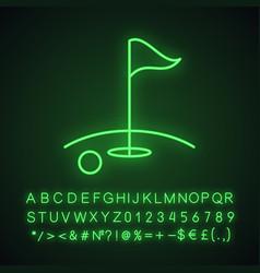 golf course neon light icon vector image