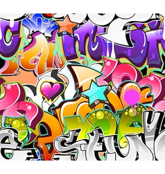 Graffiti urban art background vector
