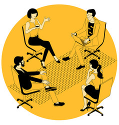 group therapy session vector image