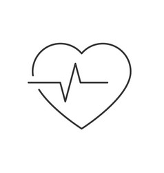 Heartbeat line icon on white background editable vector