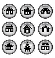 home buttons set vector image vector image
