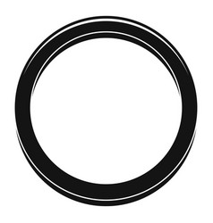 Hormonal ring icon simple style vector