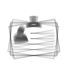 id card sign gray icon shaked at white vector image