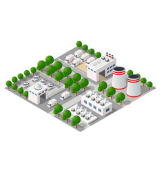 Industrial manufactured city vector