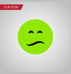 Isolated sad flat icon frown element can vector