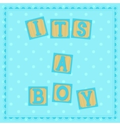 Its a boy card with cubs vector
