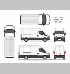 Iveco daily van l2h2 and l3h2 2014-2019 vector