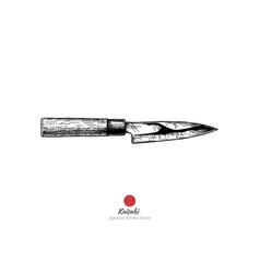Japanese kitchen knife vector