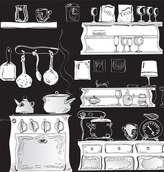 Kitchen black vector