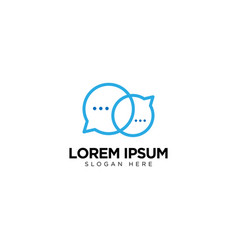 Letter o chat logo template design message icon vector