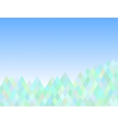 mountain abstract triangle background vector image
