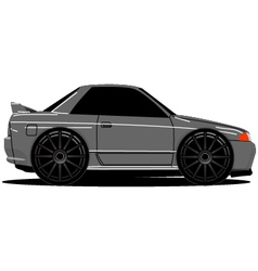 Nissan Skyline R32 Side 01b vector image