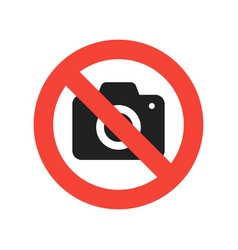 No camera allowed sign red no sign with camera in vector