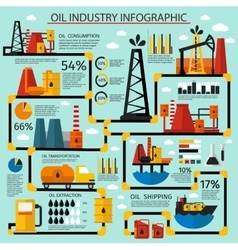 Oil Industry Infographic Set vector image