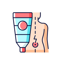 Ointment for back pain rgb color icon vector