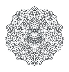 Outlines ornament trendy mandala design vector
