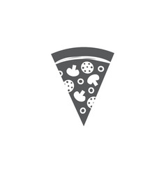 pizza slice icon on white background vector image