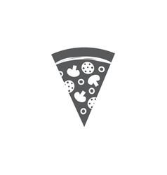 pizza slice icon on white background vector image