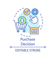 Purchase decision concept icon online shopping vector