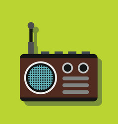 radio in flat style with shadow vector image