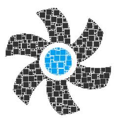 Rotor mosaic of squares and circles vector