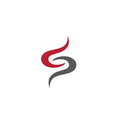 s letter logo volume icon design template element vector image