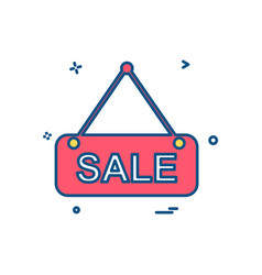 sale icon design vector image