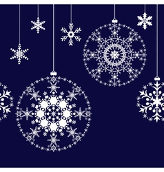 Seamless Christmas balls background vector image