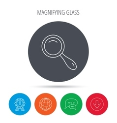 Search icon Magnifying glass sign vector image