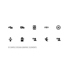 Set of 10 editable excitement icons includes vector