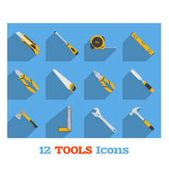 set of hand tools vector image