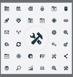 Set of simple seo icons vector