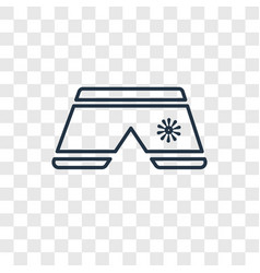 shorts concept linear icon isolated on vector image