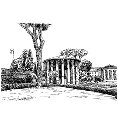 sketch hand drawing of Rome Italy famous cityscape vector image