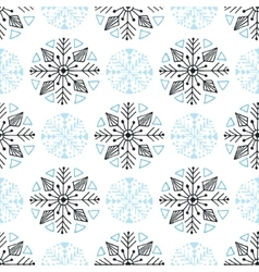 Snowflakes seamless pattern Winter background vector