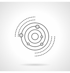 Solar system model flat line icon vector image