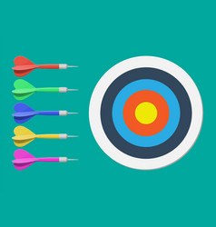 target and dart arrow goal setting vector image
