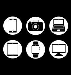 technology gadgets vector image