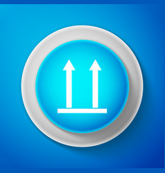 This side up icon isolated on blue background vector