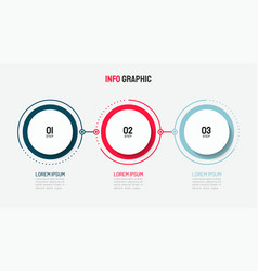 timeline infographic design with circle template vector image