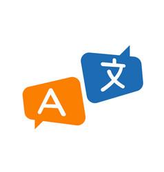 Translation icon vector