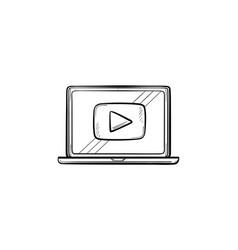 video tutorial hand drawn sketch icon vector image
