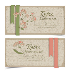 vintage floral horizontal banners vector image