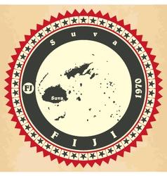 Vintage label-sticker cards of Fiji vector image