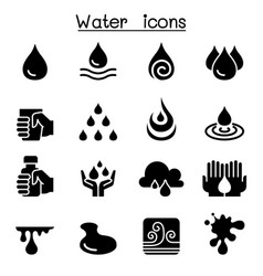 Water icon set vector