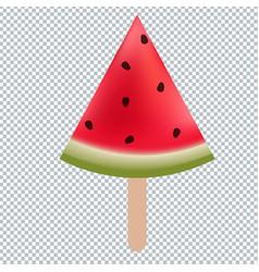 Water melon ice cream vector